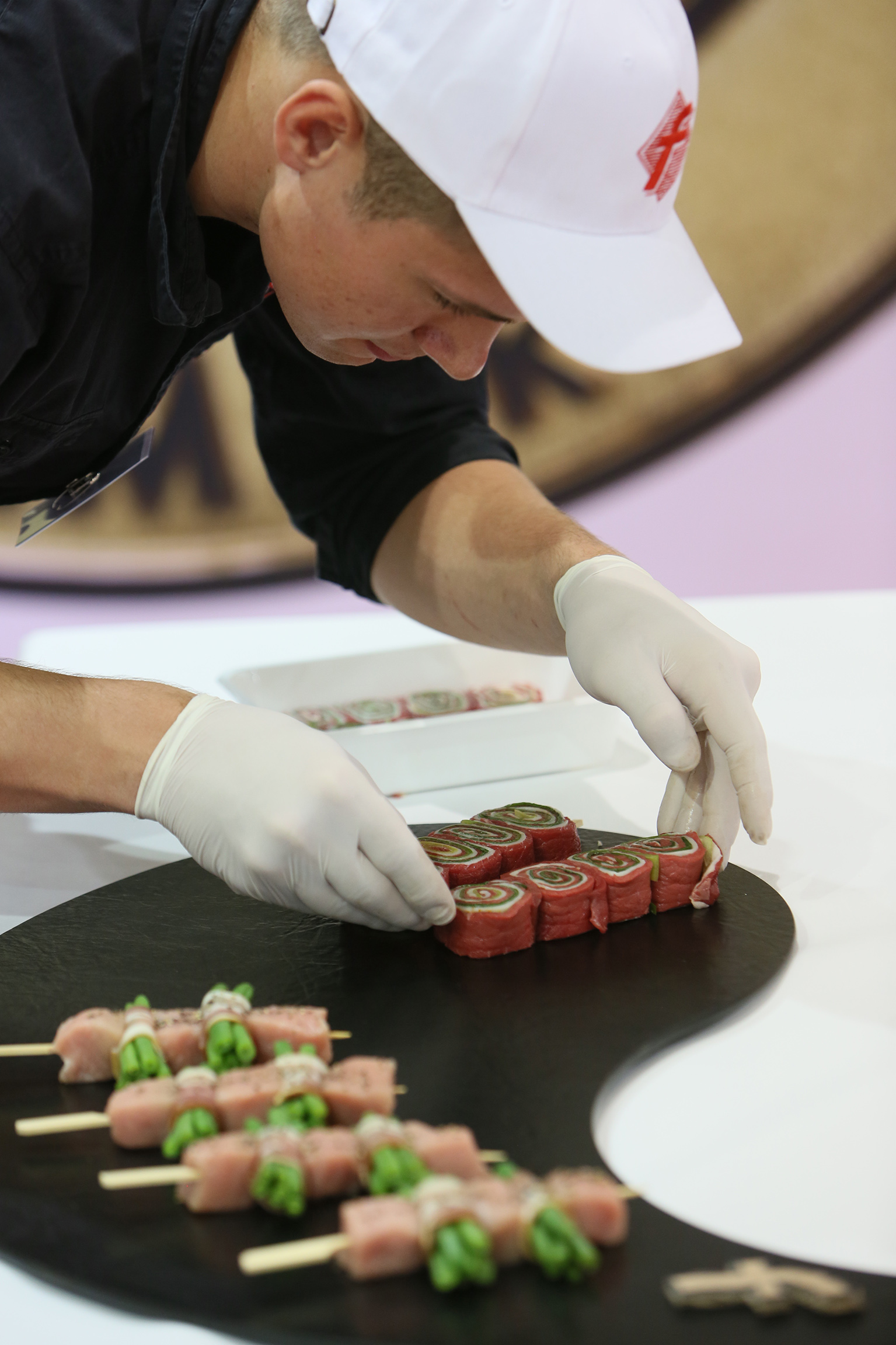 Butchers' classes show their skills