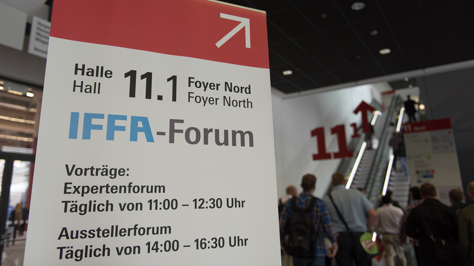 Information sign for IFFA-Forum
