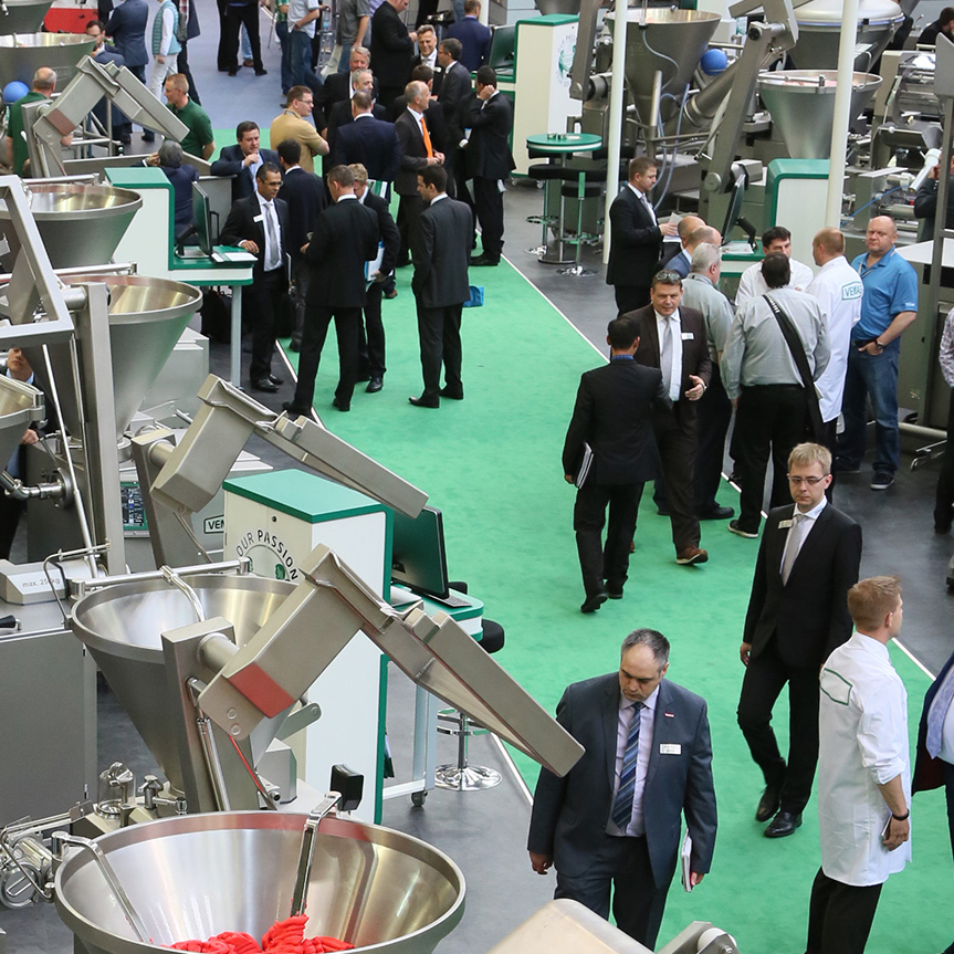 Exhibitors and visitors of IFFA